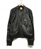 DIESEL()の古着「ラムレザージャケット」|ブラック