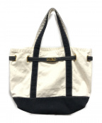 SITA PARANTICA(シータパランティカ)の古着「キャンバストートバッグ」 ホワイト×ブラック