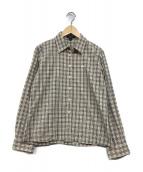 BURBERRY LONDON(バーバリーロンドン)の古着「チェックシャツ」|ベージュ