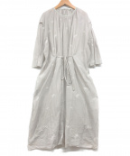 mina perhonen(ミナ ペルホネン)の古着「chouchoワンピース」|ライトグレー