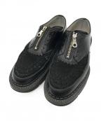 foot the coacher(フットザコーチャー)の古着「CHAOS FRONT ZIP」 ブラック