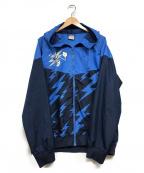 NIKE()の古着「フーデットナイロンジャケット」|ブルー