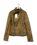 Desigual(デシグアル)の古着「ライダースジャケット」 ブラウン