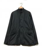 Sandinista()の古着「スタンドカラージップジャケット」 ネイビー