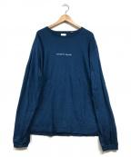YSTRDYS TMRRW(イエスタディズトゥモロー)の古着「L/SロゴTシャツ」 ブルー