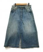 MUVEIL(ミュベール)の古着「チェリーワッペンミディデニムスカート」|ブルー