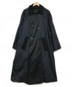 london fog(ロンドンフォグ)の古着「リメイクトレンチコート」 ネイビー