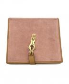 GUCCI()の古着「Wホック財布」 ピンク