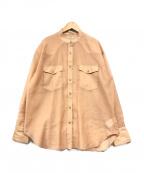 JOURNAL STANDARD(ジャーナルスタンダード)の古着「シアーウエスタンシャツ」|ライトオレンジ