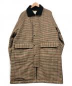 PUBLIC TOKYO(パブリックトウキョウ)の古着「ハンティングチェックコート」|ブラウン
