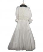 belle vintage(ベル ビンテージ)の古着「チュールドレスワンピース」 アイボリー