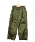 lideal(リディアル)の古着「タックパンツ」|グリーン