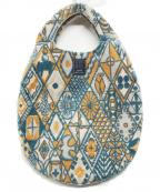 mina perhonen(ミナ ペルホネン)の古着「エッグバッグ」|ブルー×オレンジ