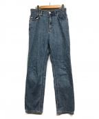 YANUK(ヤヌーク)の古着「ストレートデニムパンツ」 ブルー