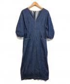 VERMEIL par iena(ヴェルメイユパーイエナ)の古着「ウエストフィットデニムワンピース」 インディゴ