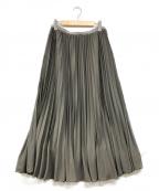 IENA LA BOUCLE(イエナ ラ ブークル)の古着「ウエストベロアプリーツスカート」|ブラウン