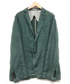 ARMANI COLLEZIONI(アルマーニ コレツィオーニ)の古着「リネンテーラードジャケット」 グリーン