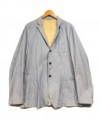 LARDINI(ラルディーニ)の古着「ストライプテーラードジャケット」 ブルー×ホワイト