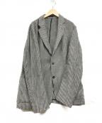 ARMANI COLLEZIONI()の古着「ニットテーラードジャケット」|ブラック×ホワイト