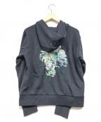 Lois CRAYON(ロイスクレヨン)の古着「ブーケ刺繍パーカー」|ネイビー