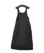 RAY BEAMS(レイ ビームス)の古着「プリーツ切替ジャンパースカート」|ブラック