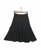 EPOCA(エポカ)の古着「フリルシフォンスカート」|ブラック