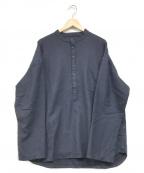 EEL(イール)の古着「ヘンリープルオーバーシャツ」 ネイビー
