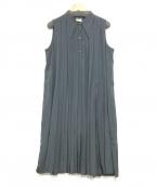 agnes b(アニエスベー)の古着「プリーツノースリーブワンピース」|ブラック