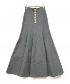 IRENE(アイレネ)の古着「Button trimpet Skirt」 ブラック