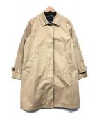 ()の古着「襟2WAYステンカラーコート」 ベージュ