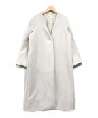 FRAY ID(フレイアイディー)の古着「ノーカラーコート」 ベージュ
