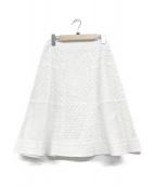 ()の古着「カットワークレーススカート」|ホワイト