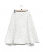 TO BE CHIC(トゥービーチック)の古着「カットワークレーススカート」|ホワイト