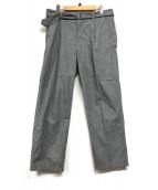 ()の古着「ベルテッドパンツ」|グレー