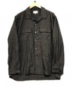 Manual Alphabet(マニュアルアルファベット)の古着「オープンカラーシャツ」|ブラウン
