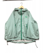 ()の古着「ハイベントレインポンチョ」|ホワイト×グリーン