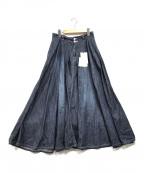 PLST(プラステ)の古着「デニムマキシスカート」|インディゴ