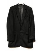 ()の古着「ストライプテーラードジャケット」|ブラック