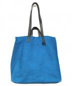 MUZE(ミューズ)の古着「レザー2WAYバッグ」 ブルー