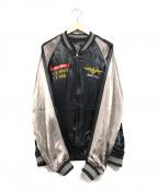 AVIREX(アヴィレックス)の古着「SUKA JACKET MIRAMAR」|ブラック×ブラウン