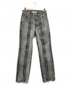 JOHN LAWRENCE SULLIVAN(ジョンローレンスサリバン)の古着「Zipped Denim Pants」|グレー