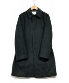 ()の古着「ステンカラーコート」 グリーン