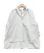 ()の古着「スキッパーシャツ」 グリーン