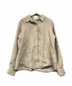 ()の古着「Linenボリュームシャツ」 グレージュ