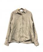 Plage de Charme(プラージュ ドゥ シャルム)の古着「Linenボリュームシャツ」 グレージュ