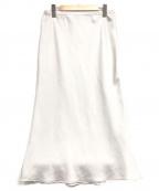 EVERYDAY I LIKE.(エヴリデイ アイ ライク)の古着「Vintage Satin スカート」|シルバー