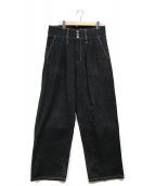 ()の古着「WIDE DENIM SLACKS」|ブラック