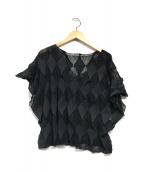()の古着「半袖ニット」|ブラック