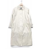 ()の古着「ステンカラーコート」|ライトベージュ