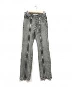 JOHN LAWRENCE SULLIVAN(ジョンローレンスサリバン)の古着「Zipped denim pants」|ブラック